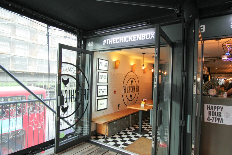 Eten in een zeecontainer in Boxpark - Shoreditch