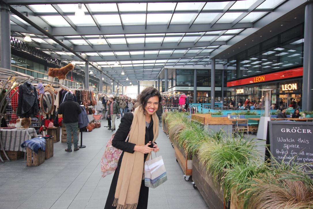 En dit is Talita Kalloe - mama Soul Stores - op Old Spitalfields Market